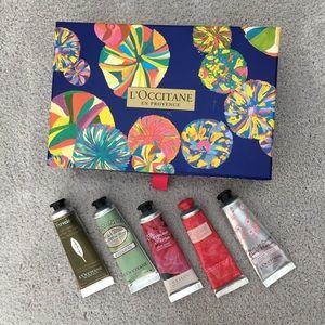 L'occitane lotions + gift box